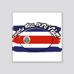 "Costa Rica pura vida Square Sticker 3"" x 3"""